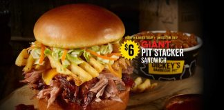 Dickey's new Giant Pit Stacker Sandwich hero