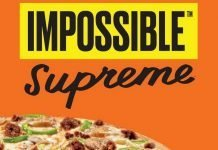 Little Caesars Impossible Supreme Pizza made with Impossible Sausage