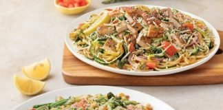 Noodles and Company new zucchini dishes side by side