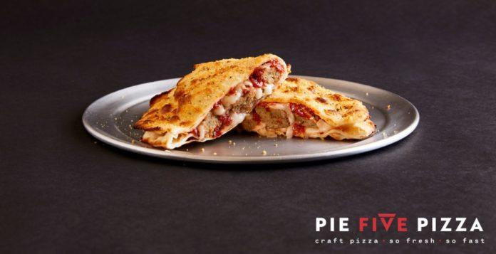 Pie Five new Calzones piled up