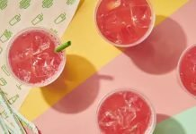 three Strawberry Mint Lemonades at Shake Shack