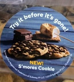 Subway new S'mores Cookie