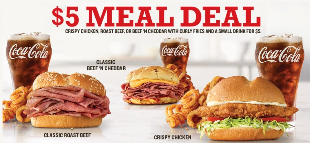 Arby's $5 Meal Deal hero