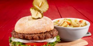Bob Evans Pick 2 Combo: Farmhouse Burger with Soup
