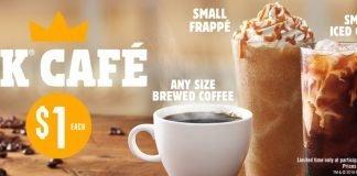 Burger King BK Café $1 deal announcement