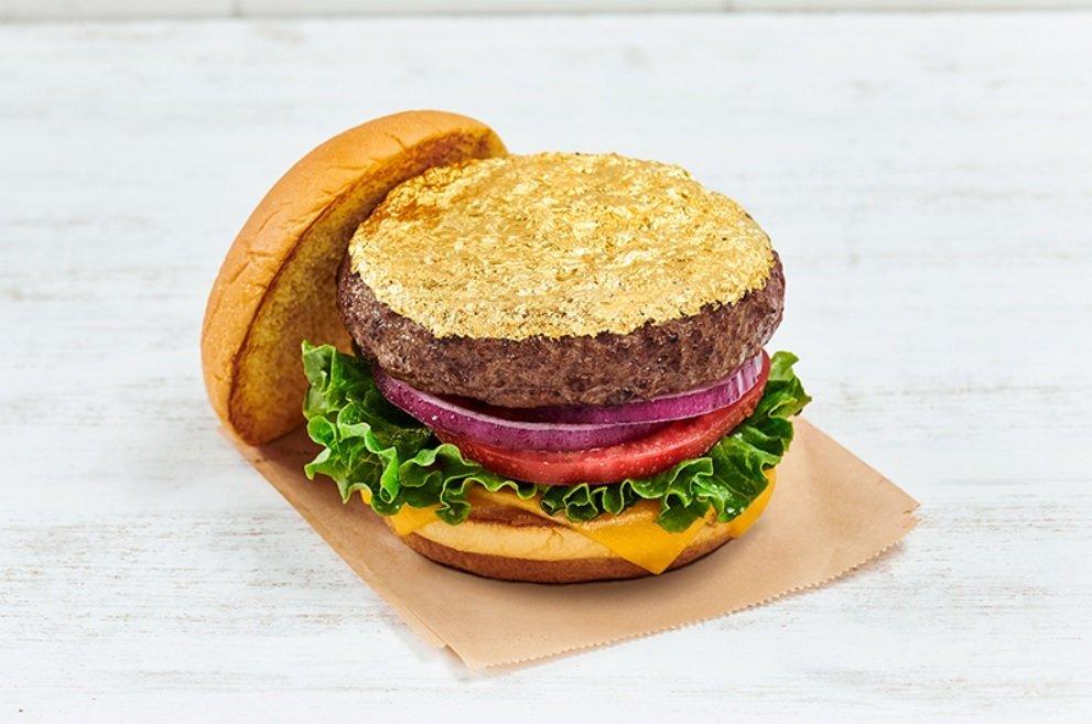 Hard Rock Cafe new Edible 24-Karat Gold Leaf Steak Burger