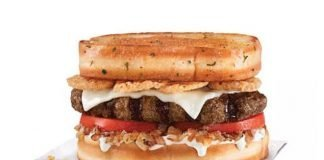Hardee's new Garlic Bread Thickburger