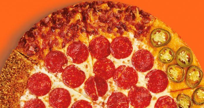 Little Caesars new Quattro Crust Pizza