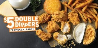 Popeyes new $5 Double Dippers Parmesan Ranch deal hero