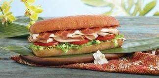 Subway new sandwich with 8-inch size King's Hawaiian bread