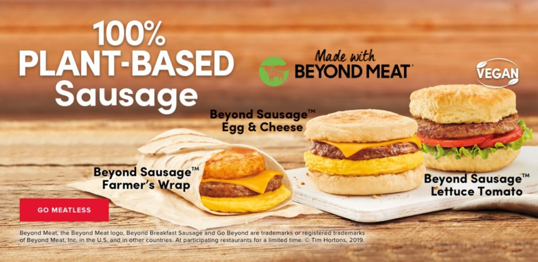 Tim Hortons new Beyond Meat menu