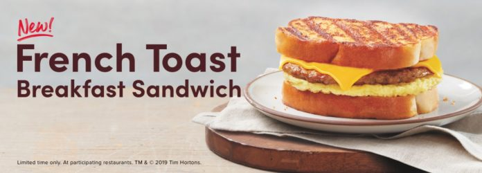 Tim Hortons new French Toast Breakfast Sandwich
