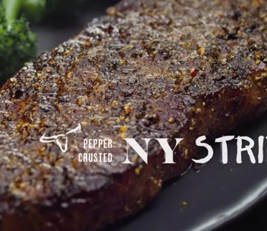 LongHorn Steakhouse new 7-Pepper-Crusted NY Strip