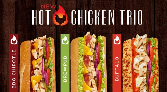 Togo's new Hot Chicken Trio sandwiches