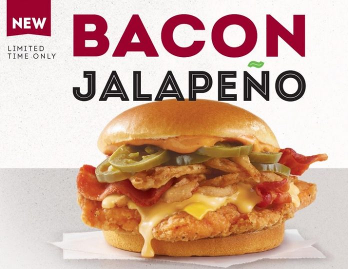 Wendy's Canada new Bacon Jalapeño Chicken Sandwich hero