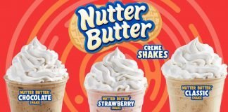 All three flavors of Wienerschnitzel Nutter Butter Creme Shakes