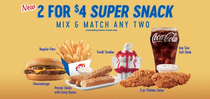 Dairy Queen new 2 For $4 Super Snack Mix & Match Any Two deal