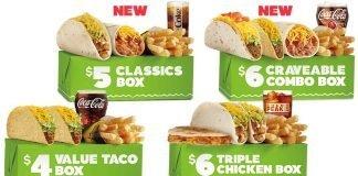 Del Taco new $5 Classics Box and $6 Craveable Combo Box
