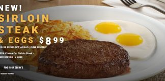 Denny's new Sirloin Steak & Eggs $8.99 deal