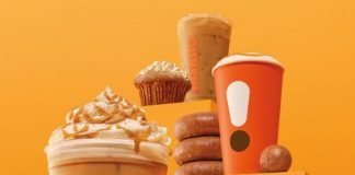 Dunkin's New Pumpkin Menu with Cinnamon Sugar Pumpkin Latte and Apple Cider Donut