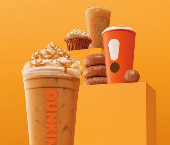 Dunkin's New Pumpkin Menu with Cinnamon Sugar Pumpkin Latte and Apple Cider Donut