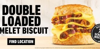 Hardee's Double Loaded Omelet Biscuit is back