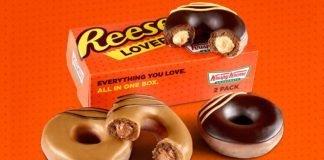 Krispy Kreme new Reese's Original Filled Doughnuts Two-Pack Box