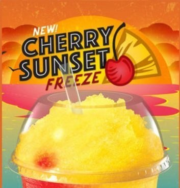 New Taco Bell Cherry Sunset Freeze