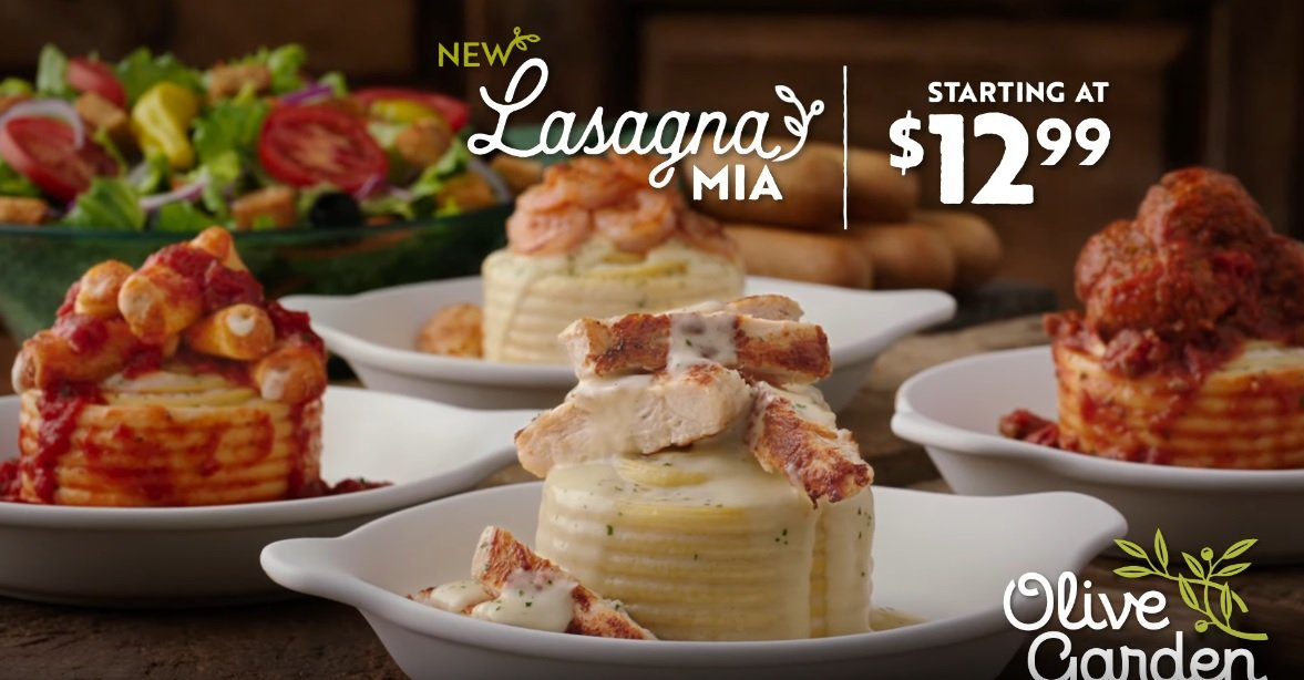 Olive Garden S Create Your Own Lasagna Mia Offer Now Includes New