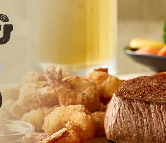 Outback Steak and Unlimited Shrimp promotion