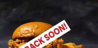 Popeyes Chicken Sandwich Be Back Soon announcement