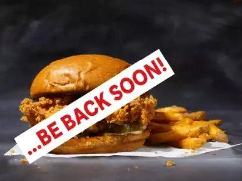 Popeyes Chicken Sandwich Be Back Soon announcement