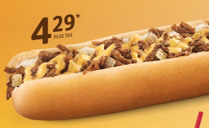 Sonic Drive-In new Extra Long Philly Cheesesteak