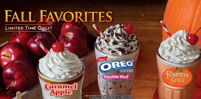 Steak 'n Shake Fall Favorites milkshake menu