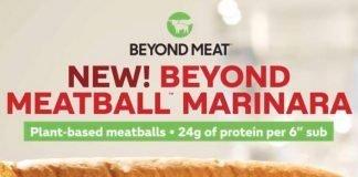Subway new Beyond Meatball Marinara Sub Sandwich