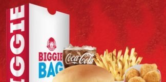 Wendy's $5 Biggie Bag deal with Spicy Chicken Nuggets