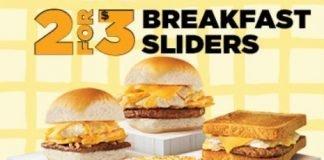 White Castle 2 For $3 Breakfast Sliders deal