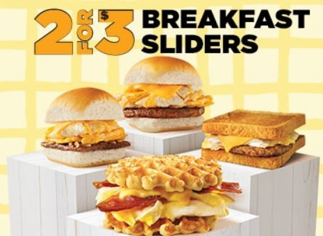 White Castle 2 For $3 Breakfast Sliders deal