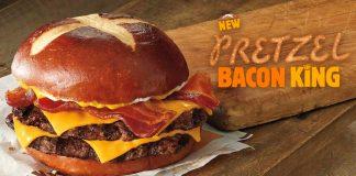 Burger King Introduces New Pretzel Bacon King Sandwich