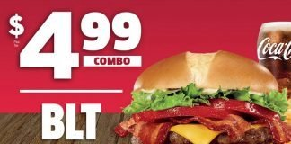 Jack In The Box $4.99 BLT Cheeseburger Combo is back