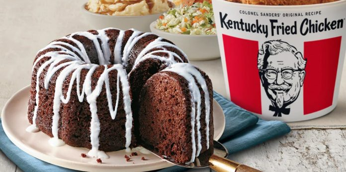 KFC new Free Chocolate Cake with Purchase of 10pc meal promotion