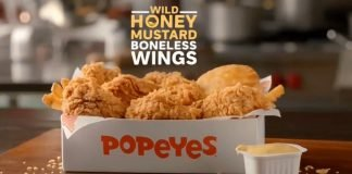 Popeyes Introduces New $5.99 Wild Honey Mustard Boneless Wings