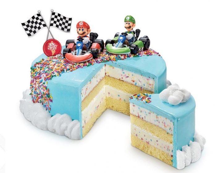 Cold Stone Creamery New Super Mario Bros. Rainbow Sprinkle Road Ice Cream Cake
