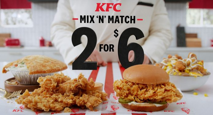 KFC Brings Back The 2 for $6 Mix 'n' Match Deal