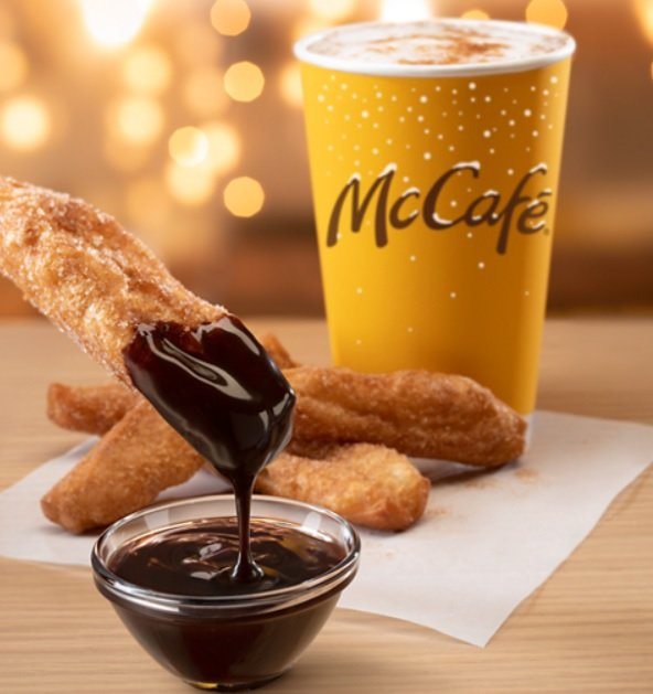 McDonald's Announces New McCafé Cinnamon Cookie Latte And New Donut Sticks With Chocolate Sauce