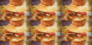 Red Robin New French Onion Ringer Burger