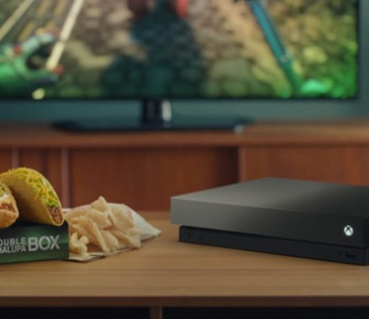 Taco Bell Double Chalupa Box with Xbox One X Eclipse Limited Edition