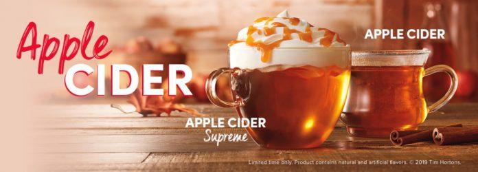 Tim Hortons Offers Apple Cider And Caramel Apple Cider Supreme