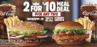 Burger King Brings Back 2 For $10 Meal Deal hero