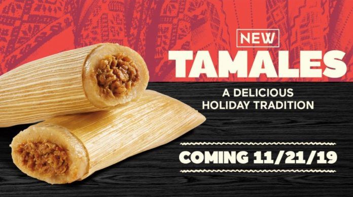 Del Taco Set To Launch New Tamales On November 21, 2019